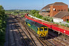 14th Jun 2018:  66552'Maltby Raider' is again tasked with working 4O71 from Wentloog to Southampton Maritime.  On Tusdays  and Thursdays this can be pathed through Westbury unfortunatley unlike the previous working this week there was not a single container on the train.  The Lobsters have been there all week and do not improve the shot.