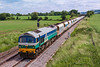 13th Jun 2018:  59004 leaving Westbury at Fairwood with 6C31 from Theale to Whatley.