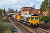 13th Feb 2020:  66525 is leaving Trowbridge with 4O57 from Wentloog to Southampton MCT