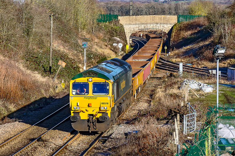 31st Dec 2020: My last picture of the year is taken at Hawkeridge Junction that was opened in July 1942 to give access to the East bound Berks & Hants line.  66513 is  working 6Y64 from Cardiff Central to Westbury Down Yard.
