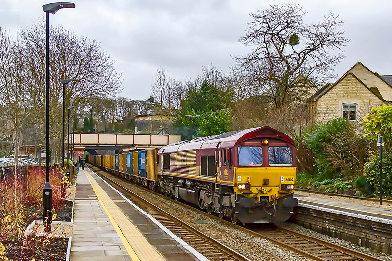 2nd Jan 2020:  My first picture of the decade is of 66102 at Bradford. on Avon..  It is working 6C03 the  10.13 waste service from Northolt Sidings to Avonmouth Sita.