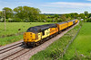 30th May 2021:  In perfect light Colas 37116 is captured at Great Cheverell on the Berks & Hants line,  3Z39  is moving a Tester set to Exeter from Hither Green.