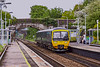 14th May 2021: 165136 is drawing to a halt at Oldfield Park station in Bath as it works 2O76 the 10.42 to Weymouth  from Gloucester..