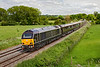 11th Jun 2021:  The Royal Train is pictured at Great Cheverell as it works to Cornwall  from Windsor & Eaton Riverside. Celebrating the Quee's official birthday it  is appropriatleyr working as 1Z95.  Powered by 67006 'Royal Sovreign- 67005 'Queens Messanger' is at the other end..  Shame the light died at just the wrong moment.