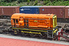 14th Jun 2021:  08785 has recently been painted into the G & Y Orange livery for use at the Maritime Container Terminal in Southampton.  The cab roof and top surfaces are not the same colour and a line down the centre  was not totaly covered with the spray.  Mmmmm!!