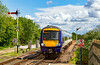 18th May 2921:  Entering Hammerton station is Northern Rail's 170461 that is 12. minutes  into the journey of 2C92 the 12.11 from York to Leeds .  The  track will revert  to beeing a single line to Knaresborough after the next station at Cattal