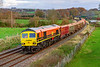 21st Nov 2020:  Back in traffic again is 59203 captured at Great Cheverell as it heads 7V06 from Crawley to Merehead..