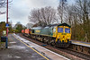 10th Feb 2020:  During a fortunate gap in Storm Ciara's heavy downpours  66537 passes through Warminster as it works 4O57 to Southampton Maritime from Wentloog