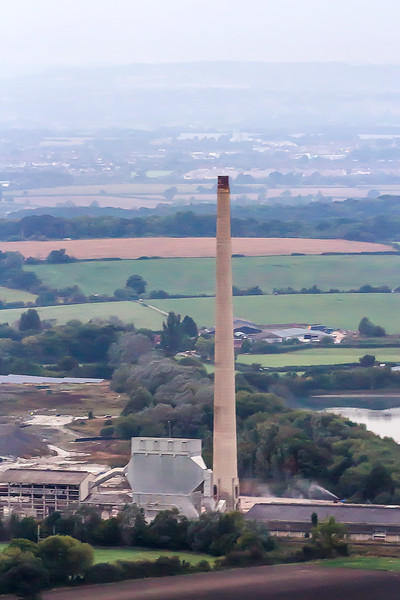 18th Sep 2016:  17 minutes before the big bang and the cement works chimney stands proud