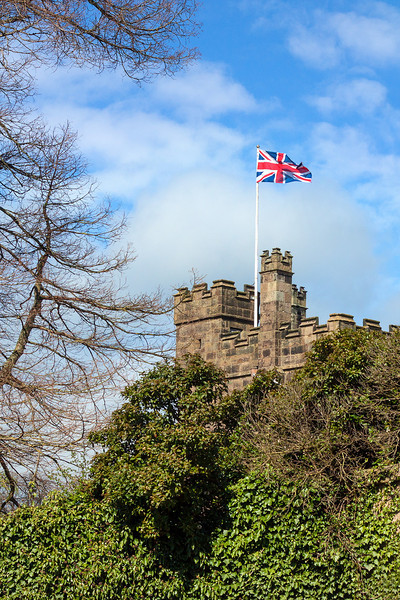 5th May 13:  Poudly flying the flag at Ripley Castle