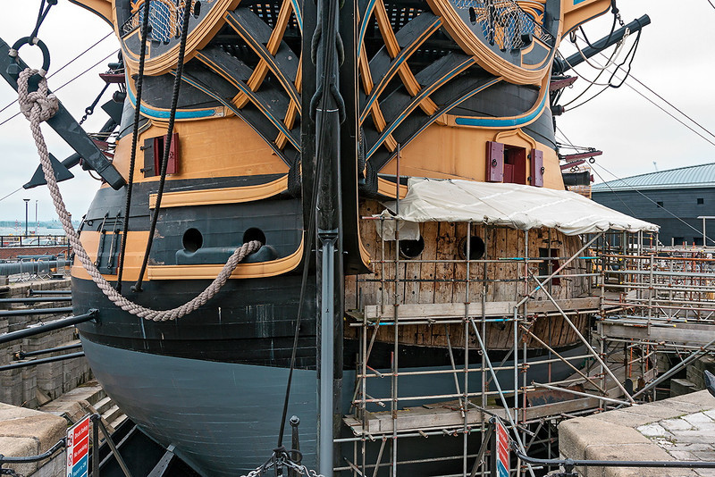 4th Jul 13:  HMS Victory undergoing a refit !