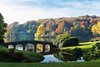 31st October 2016:  The bridge at Stourhead Gardens