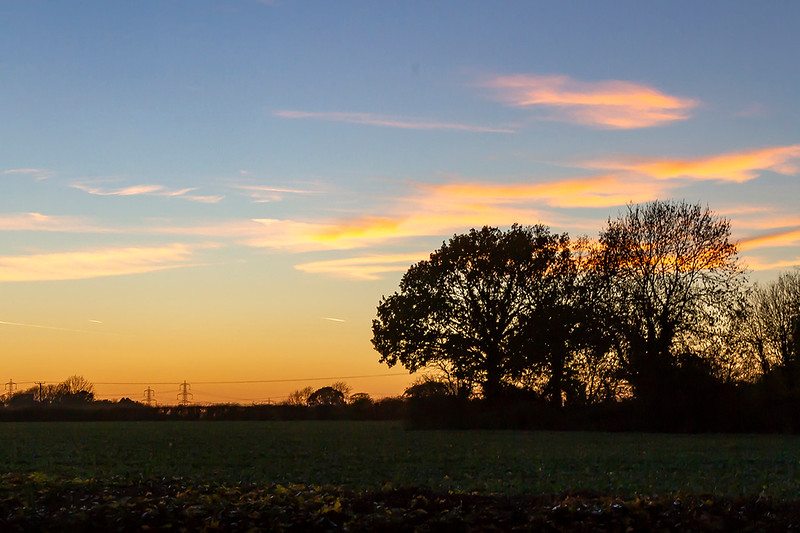 18th Nov 2018:  Leiston Sunset at 11 minutes past 4