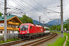 "27th May 2019:""  Roundiing the curve into Oberndorf is 1116 190 heading the 11.52 from Worgl to Salzberg"