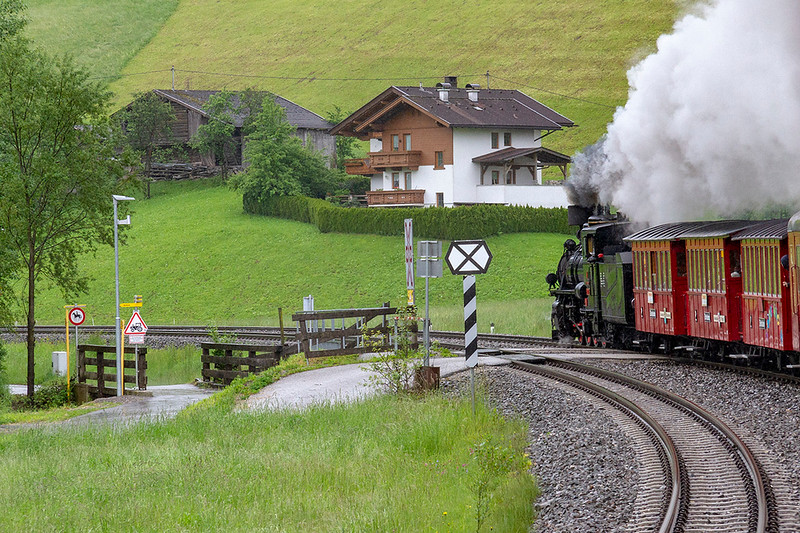 29th May 2019:  On the Zillertalbahn near Meyrhofen