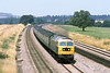 29th Jul 81:  47135 On the Up Main at Lower Basildon