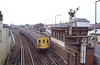 6th Feb 1983:  2 Car electric unit 3302 ( can't work ouy what series it belong to) leaving Bognor Regis with the 12.08 to Barham