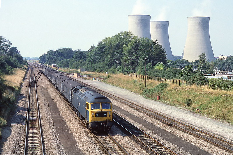 6th Sep 1981:  t Foxhall Junction 47477 is seen with an Up parcels service.