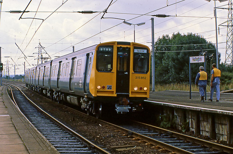 10th Aug 81:  315852 on a crew traing special at Harlington