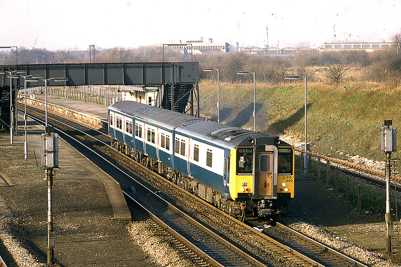3rd Feb 1983: 210002 departing from Iver with the 10.30 from Slough to Paddington
