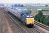 10th Aug 81:  At Langford south of Bigglewade 55016 'Gordin Highlander' races south with the 10.47 York tp Kings Cross