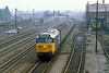 28th Jul 81:  60035 'Glorious' heads the 09.50 Paddington to Oxford past Southall Depot