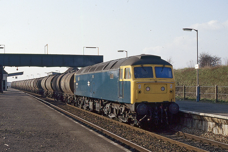 17th Feb 1983:  47256 eastwards through Iver with oil tankls possibly empties from the  Langley Terminal