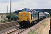 10yh Aug 81:  Running on the Down Slow at Langford due to a broken rail is 55019 'Royal Highlanf Fusilier' powering the 13.50 Kings Cross to Leeds