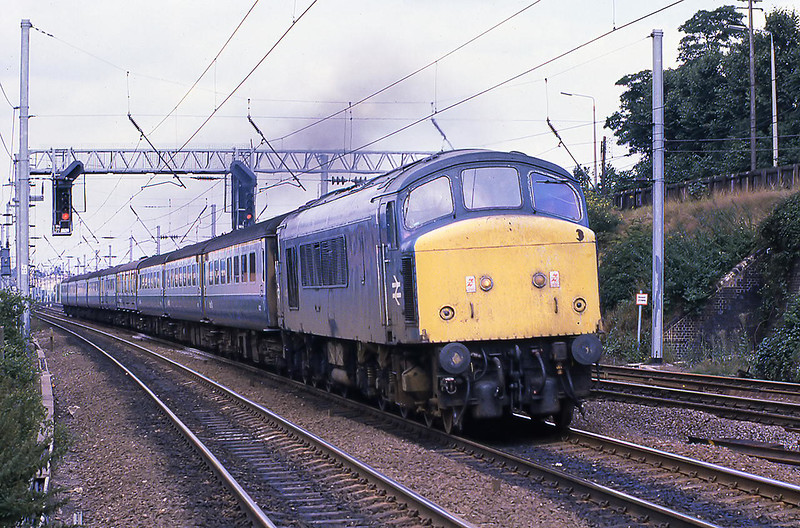 10th Aug 81:  45140 running through Flitwick with the 10.12 from Sheffield to St Pancras