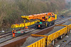 28th Dec 2018:  Another short section being moved  by the Colas Kirow crane. DRK 81612