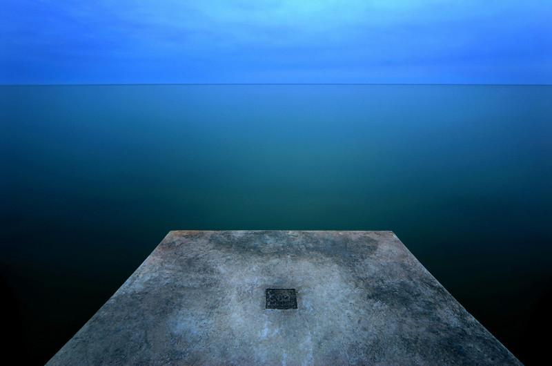 "Concrete pier, ""The Beach"" Toronto"