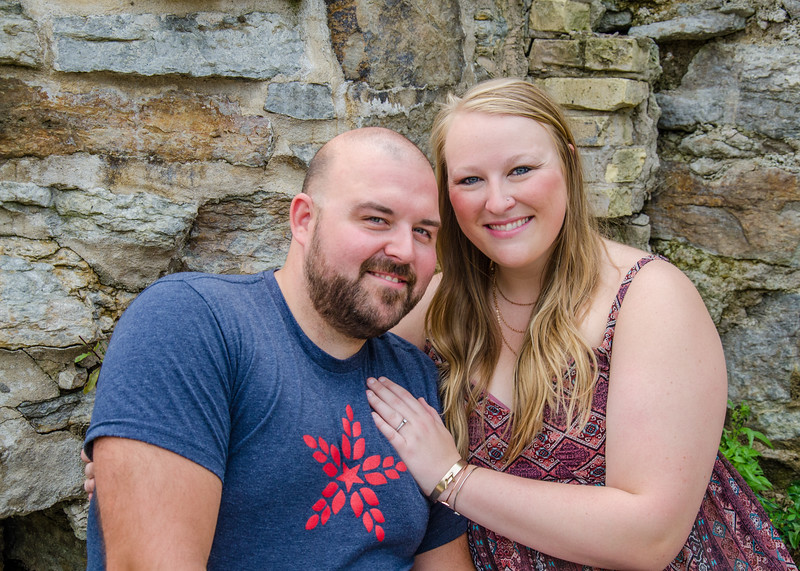engagement session on the rocks