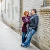 engagement session in a Fargo alley