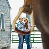 horse engagement session