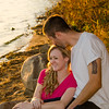 lakeside engagement session