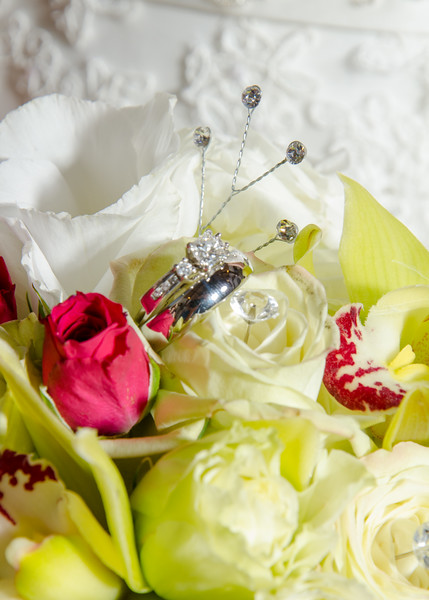 wedding Rings nestled in flowers