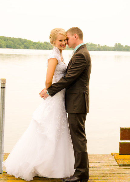 Bride & Groom on dock