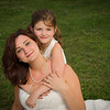 beautiful bride & flower girl