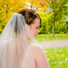 bridal photography in the fall leaves