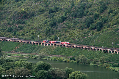 A DB emu along the river Mosel (8 sept 2017).