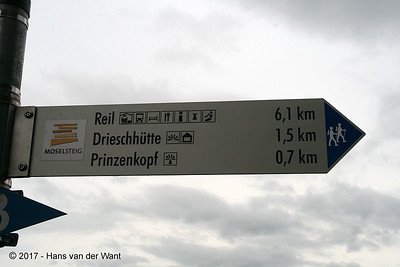Just a 6,1 km walk to Rail for the train to Traben-Trarbach (8 sept 2017).