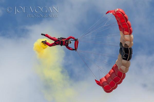 Red Devils Parachute Team, Naval Air Station Air Show, Jacksonville, Florida