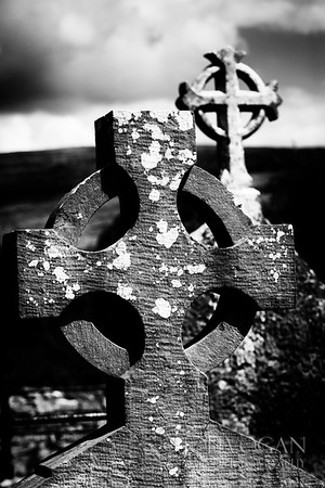 Old Irish Cross, Corcomroe Abbey,  County Clare, Ireland