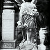 Angel with vandalized head, Bosque Bello Cemetery, Fernandina Beach, Florida