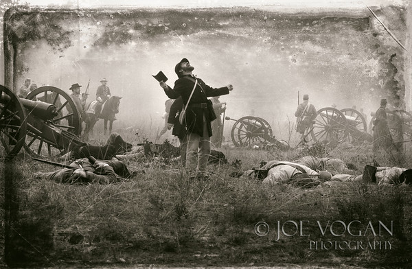 End of the Battle, Olustee Civil War Reenactment, Florida