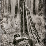 Union Soldier Napping, Olustee Civil War Reenactment, Florida