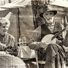 Banjo player and his wife, Olustee Civil War Reenactment, Olustee, Florida