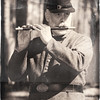 Fife player, Olustee Civil War Reenactment, Olustee, Florida