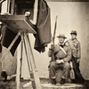 "A father and son before having their picture taken using the collodion wet plate process.   A description of how it's done is here -  <a href=""http://vintageimagestudios.wix.com/wendell-decker"">http://vintageimagestudios.wix.com/wendell-decker</a>"