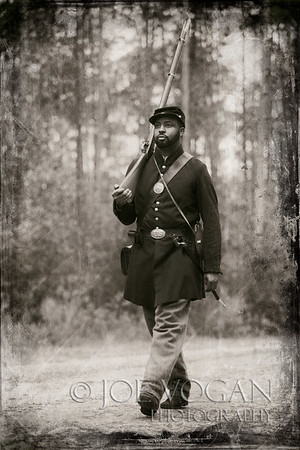 "54th Regiment Massachusetts Volunteer Infantry Soldier, Olustee Civil War Reenactment, Olustee, Florida<br /> History - <a href=""http://tinyurl.com/o2lcvuu"">http://tinyurl.com/o2lcvuu</a>"